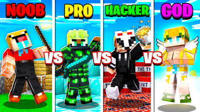 Noob VS Pro VS Hacker VS God