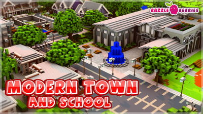 Modern Town and School